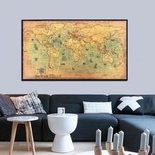 Oceano náutico do vintage mar mapa do mundo adesivo pinturas decoração de casa decoração da parede arte hangging ornamento mapa do mundo