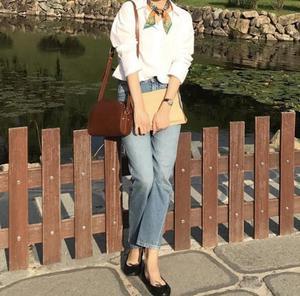 Image 3 - Jeans delle donne Asimmetrico Cut Vintage Etero Nove punti dei jeans donna Jeans Pantaloni