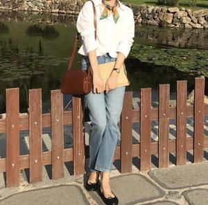 Image 3 - Jeans pour femmes, jeans Vintage, coupe asymétrique, droit à neuf points