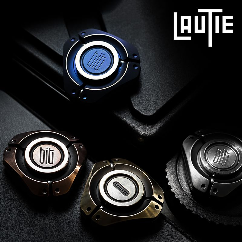 Original LAUTIE BIT-03 Fingertip Gyro Zirconium&304 Steel Portable Personality Bearing Rotating Adult Decompression EDC