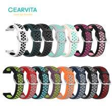 20Mm Dây Đeo Đồng Hồ Silicone Dây Watchbands Cho Đồng Hồ Huawei Watch GT2 42Mm/Samsung Galaxy Đồng Hồ Hoạt Động/Garmin venu Xốp Thể Thao Dây Đeo