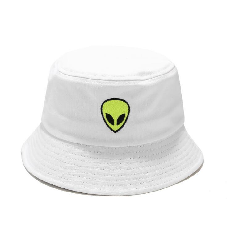 Зеленая, черная, белая однотонная шляпа-ведро с инопланетянами, унисекс, кепки с Бобом в стиле хип-хоп, Gorros, для мужчин и женщин, летняя Панама...