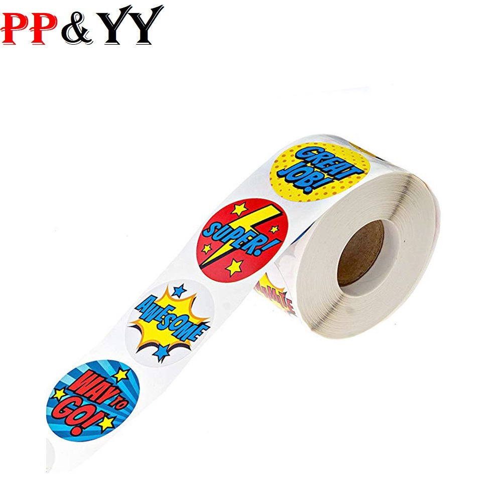8 Different Styles Reward Stickers Cartoon Cute Sticker For School Teacher Student Stationery Sticker 500pcs Labels Per Roll