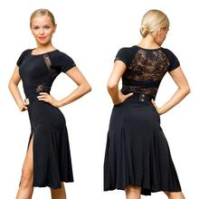 SuperStar Series:G3044  latin ballroom dance professional lace connected sides split swing design dress (the belt not included)