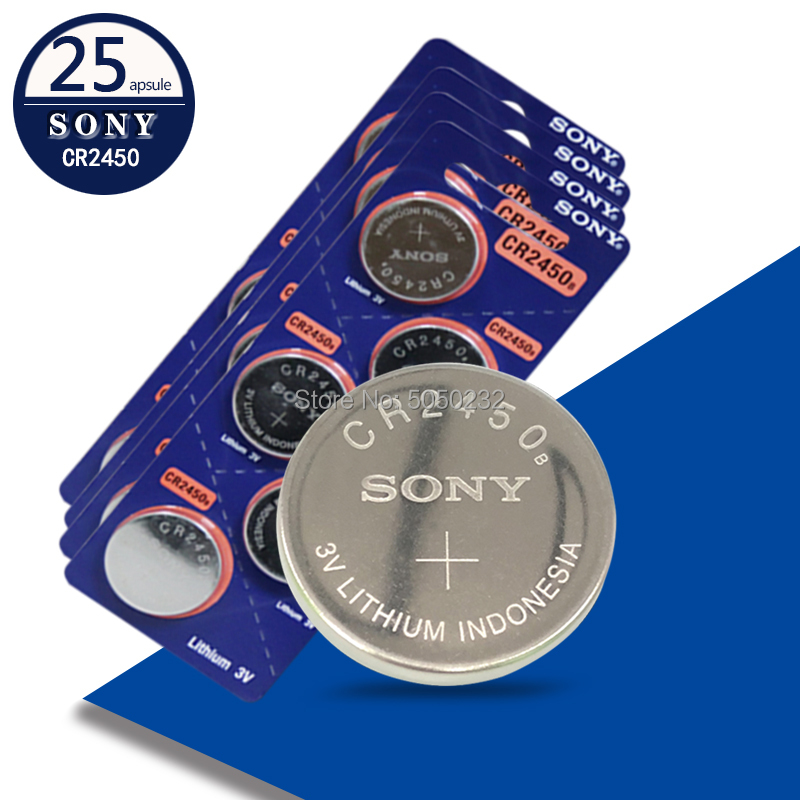 25pcs Original Sony CR2450 Lithium Button Cell Battery CR2450 <font><b>3V</b></font> Coin <font><b>CR</b></font> <font><b>2450</b></font> Replace 5029LC BR2450 BR2450-1W image