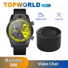 Rollme S08 akıllı saat telefon 1.69 inç IPS ekran MT6739 dört çekirdekli İşlemci 8MP ön kamera IP68 1360mAh pil 4G LTE GPS