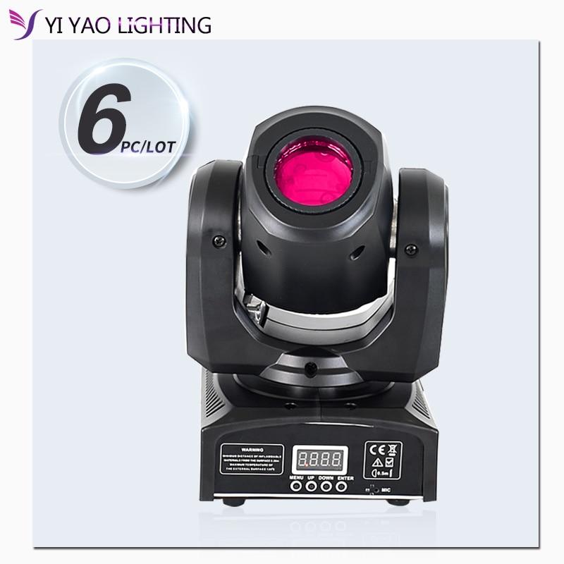 Led Spot Mini Moving Head Light 30W DMX Dj 8 Gobos Effect Stage 6pcs/lot