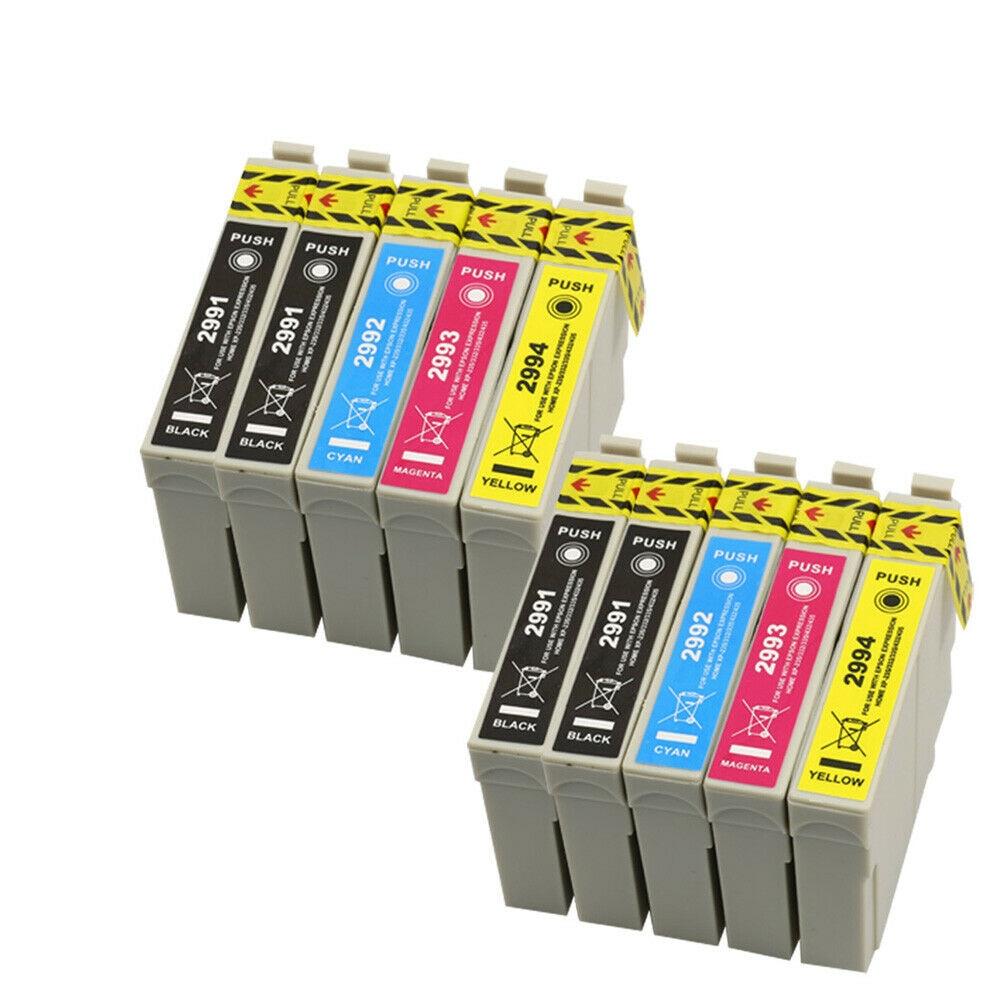 10pcs T2991 T2992 T2993  T2994 29 29xl Ink Cartridge Compatible For Epson 29XL For Epson XP 235 332 432 247 442 342 345 Printer