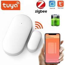Tuya ZigBee Smart Door Sensor Intelligent Linkage Security Alarm Wireless Door Window Detector Support Tuya / Smart Life APP
