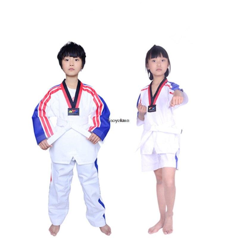 Colorido de Alta Adulto para Mulheres dos Homens Uniforme com Bordado Terno para Roupas Qualidade Crianças Taekwondo Dobok Treinamento T155 Mod. 181566