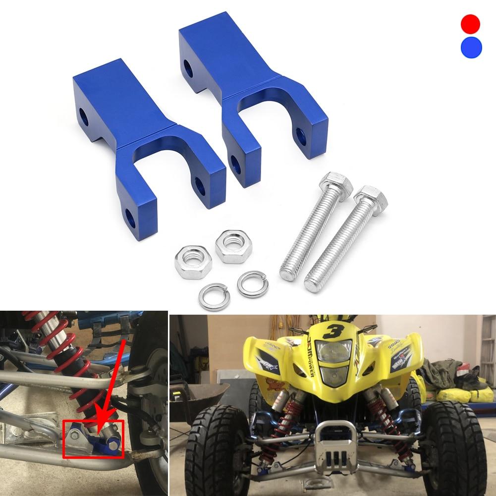 "3.5"" Front Lowering Kit Drop CNC Aluminum Bracket ATV Parts For Kawasaki Suzuki ARCTIC CAT DVX400 KFX400 LTZ400 LTZ 400 DVX KFX"