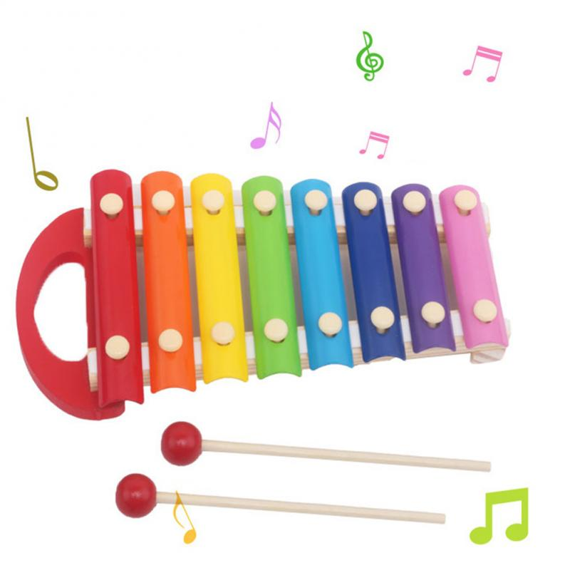 Cute 8 Tone Xylophone Musical Wisdom Development Wooden Toy For Baby Kids Educational Toys Birthday Gifts
