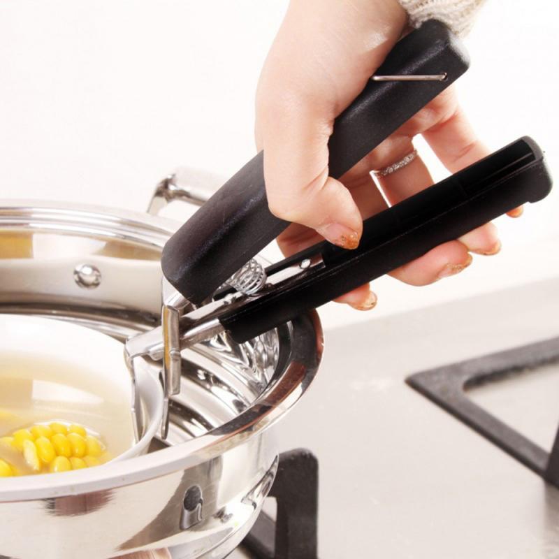 Cozinha anti escalda placa quente tigela prato pote titular carrier braçadeira clipe ferramenta uk ventosa afiar aço inoxidável anti-scaldin