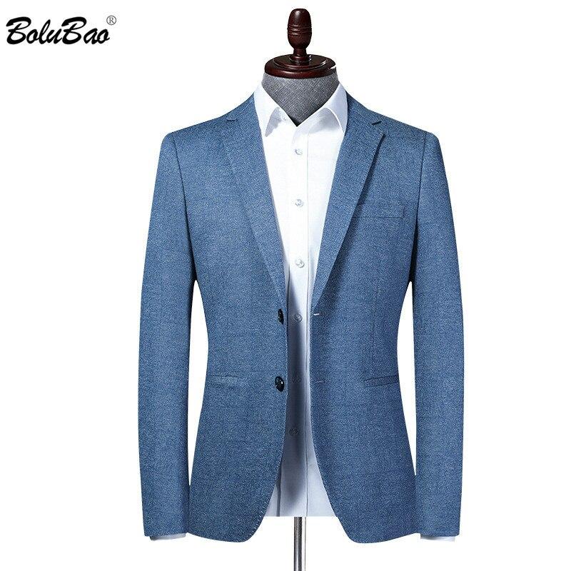 BOLUBAO Brand Men Blazer New Men's Slim Fit Turndown Collar Suit Jacket Business Style Fashion Office Male Dress Blazers