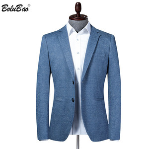 BOLUBAO Brand Men Blazer New Men's Slim Fit Turndown Collar Suit Jacket Business Style Fashion Office Male Dress Blazers(China)