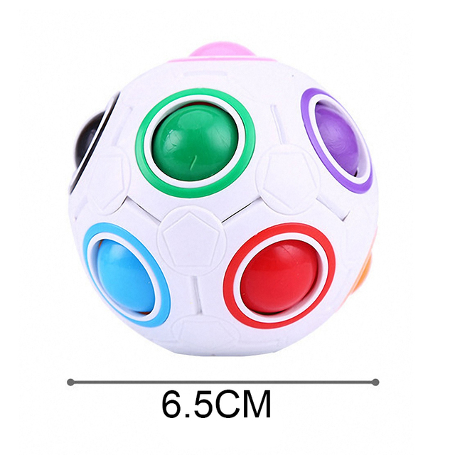 1Pc Football Magic Cube Creative Speed Rainbow Puzzles Ball Educational Learning Toys for Children Adult Kids Funny Puzzle Games 6