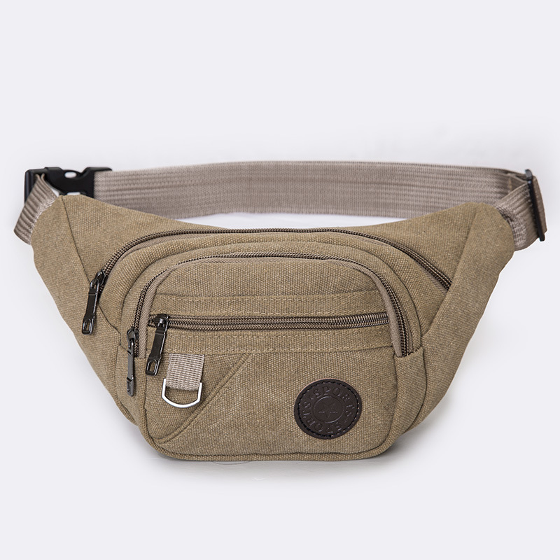 New Style Multi-functional Sports Outdoor Canvas Waist Pack Fashion Man Women's Portable And Durable Phone Coin Purse Processing