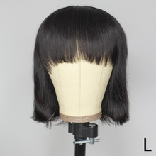 Short Bob Wigs Human Hair Wigs Full Machine Wig Pixie Cut Remy 150% Wig With Bangs For Afro Black Women Straight Short Bob Wig hot selling bob wig with side bangs cheap good quality straight short cut wigs for black women
