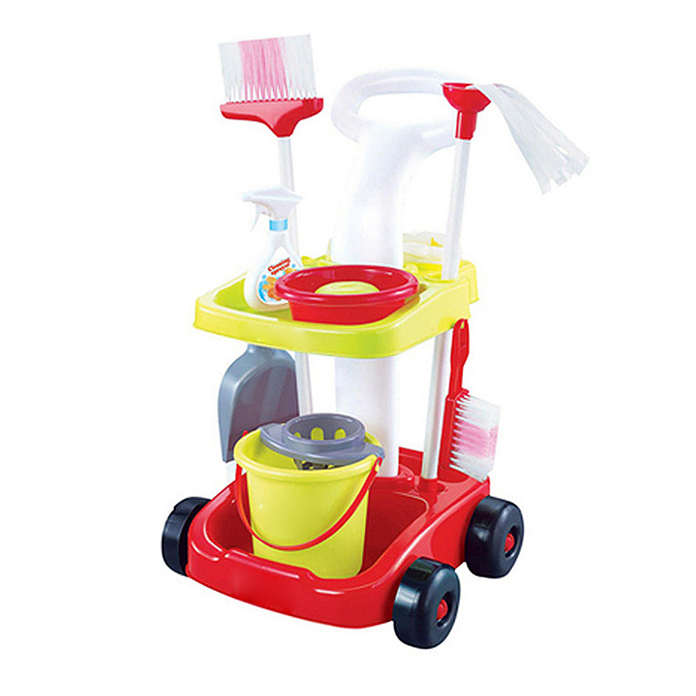 Children Pretend Play Toy Kit Creative Simulation Mini Cleaning Mop Broom Tools For Kids Housekeeping Toys Child Education Toy