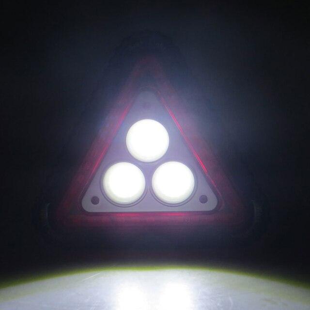 Lumière davertissement triangulaire | Portable, étanche, pour Camping randonnée urgence