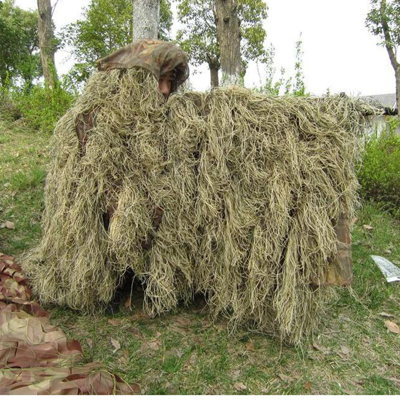Outlife Camouflage Suits Cloak Jungle Hunting Clothes Ghillie Suit Desert Woodland Sniper Birdwatching Poncho NL352