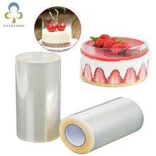 Doces de chocolate do bolo do acetato da cozinha do colar transparente do bolo do rolo 1 para o cozimento durável 8cm * 10m/10cm * 10m zxh