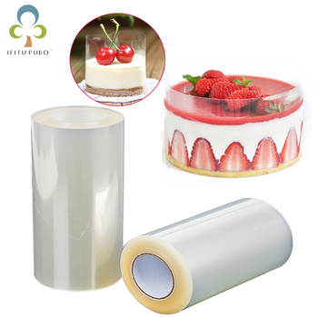 1 Roll Cake Surround Film Transparent Cake Collar Kitchen Acetate Cake Chocolate Candy For Baking Durable 8cm*10m/10cm*10m ZXH