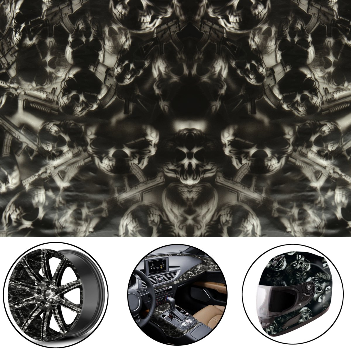 50x100cm Black PVA Hydrographic Film Water Transfer Printing Film Hydro Dip Flame Style Decals Stickers