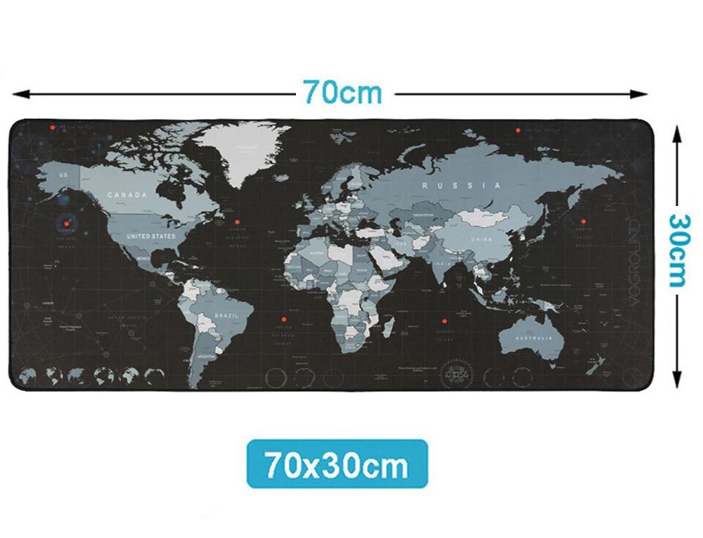 Горячая Экстра большой коврик для мыши карта старого мира игровой коврик для мыши Противоскользящий натуральный резиновый игровой коврик для мыши с запирающимся краем - Цвет: new 700 x 300 mm