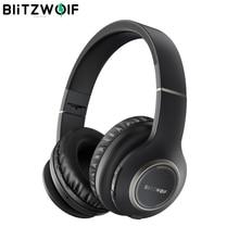 BlitzWolf BW HP0 casque sans fil Bluetooth casque pliable sur oreille casque avec Microphone pour PC téléphone portable Mp3