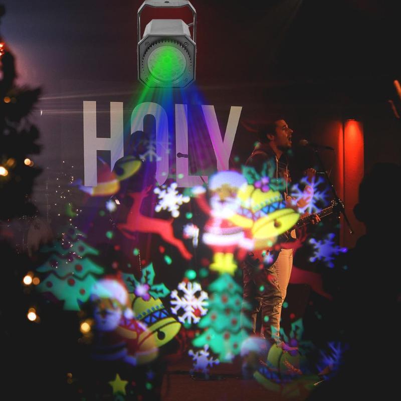 Image 5 -  グループ  AliExpress上の クリスマスパターン LED レーザープロジェクターカラフルな回転ステージプロジェクターライト DJ ディスコランプ Ktv パーティーのために結婚式バーホーム