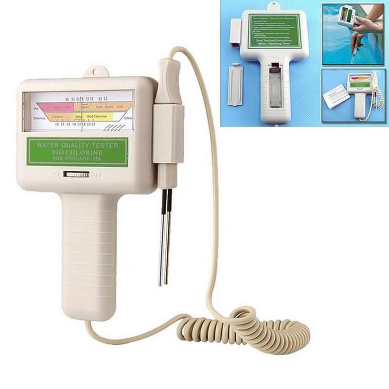 1 adet PC-101 ph Test cihazı taşınabilir CL2 klor su kalitesi monitör ölçer taşınabilir ev yüzme havuzu akvaryum ph ölçer Test araçları