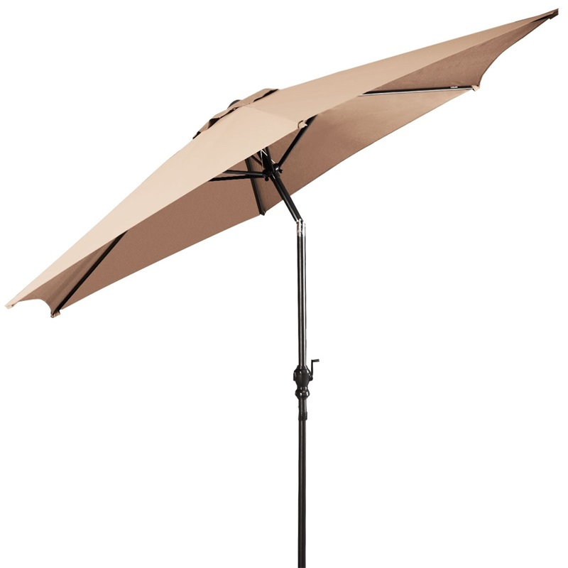 COSTWAY 9 Ft Outdoor Beach Patio Umbrella Garden Parasol With Crank Furniture OP2806