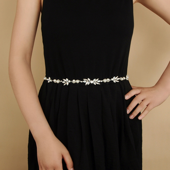 цена на TRiXY SH132 Wedding Dress Sash Silver Belt Bridal Wedding Belts Rhinestones Crystal Wedding Dress Accessories Opal Diamond Belts