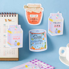 Mooie Regenboog Fudge Aardbei Collage Memo Pad N Times Sticky Notes Escolar Papelaria School Supply Bookmark Label(China)