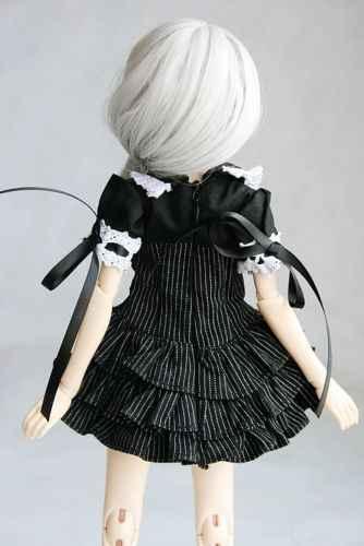 [Wamami] 244 # vestido con cuello blanco a rayas negras/traje 1/4 MSD 1/3 SD DZ AOD BJD muñeca Dollfie