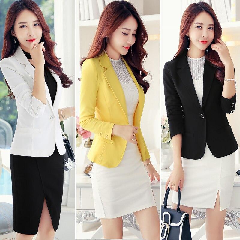 Women Blazers And Jackets Plus Size Fashion Autumn Single Button Blazer Feminino Office Outfits Coat Female Spring YQ170