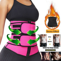 Women Body Shaper Waist Trainer Thermo Sweat Belt Waist Trainer Girdle Corset Women Tummy Slimming Body Shaper Shapewear 20522