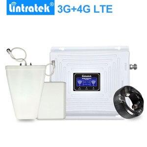 Image 1 - Lintratek 3G GSM 4G مكرر إشارة 4G LTE 1800 GSM 1800MHz 3G UMTS 2100Mhz LCD الهاتف المحمول إشارة الداعم مكبر للصوت مجموعة كاملة.