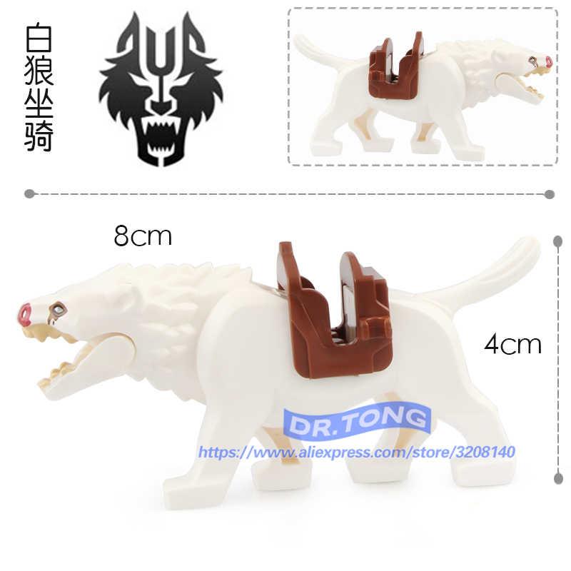 Venta única señor del lobo del anillo figuras de guerra caballo Lobo bloques de construcción ladrillos modelos de acción figura juguetes RZ200 RZ201 RZ202