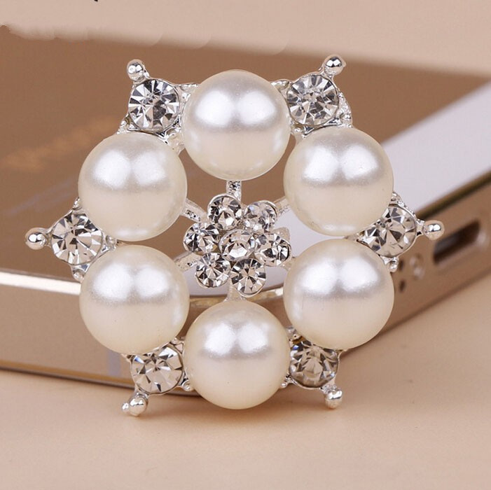 50 pcs 16mm Ivory flat back pearls headband centers DIY bows