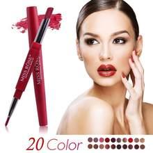 Miss rosa 20 cores de longa duração lábio forro fosco lápis labial à prova dwaterproof água hidratante batons maquiagem contorno cosméticos tslm1