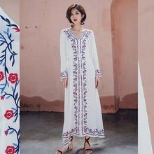 Dress Pakistan-Clothing India Party Cotton Women Casual Maxi Robe Boho Loose Floral-Print