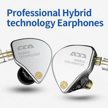 CCA CA4 1BA+1DD Hybrid In Ear HiFi Monitor IEM 2 Drive Unit Sports Earphone Hifi Bass Earbuds Headset Detacable ZSN ZST V30 V80