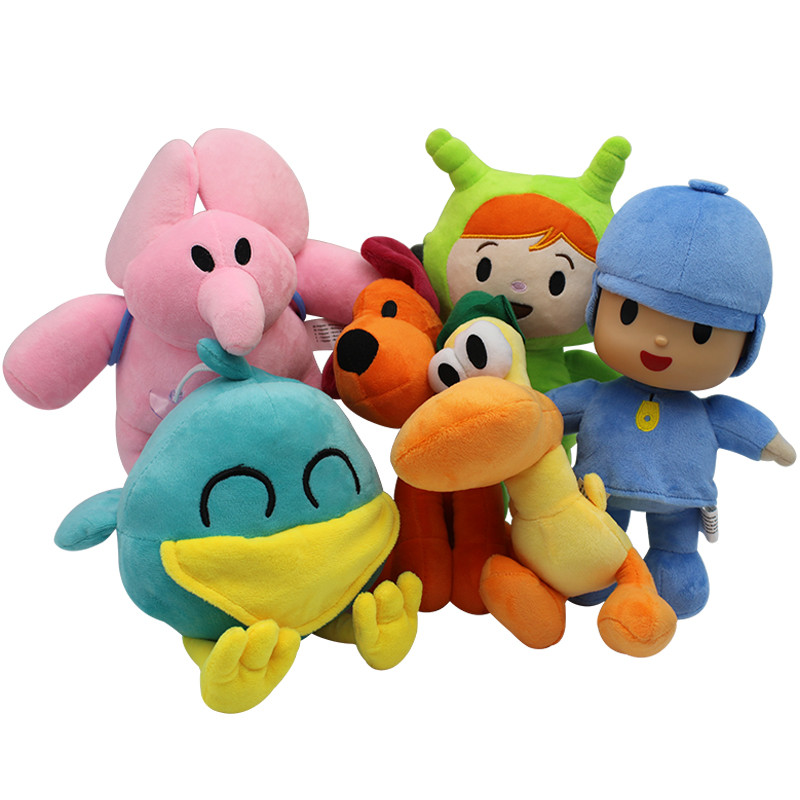 6pcs Pocoyo Cute Plush Toys Elly Pato Loula Plush Doll Pocoyo Dog Duck Elephant Soft Stufffed Animal Dolls For Kid Birthday Gift