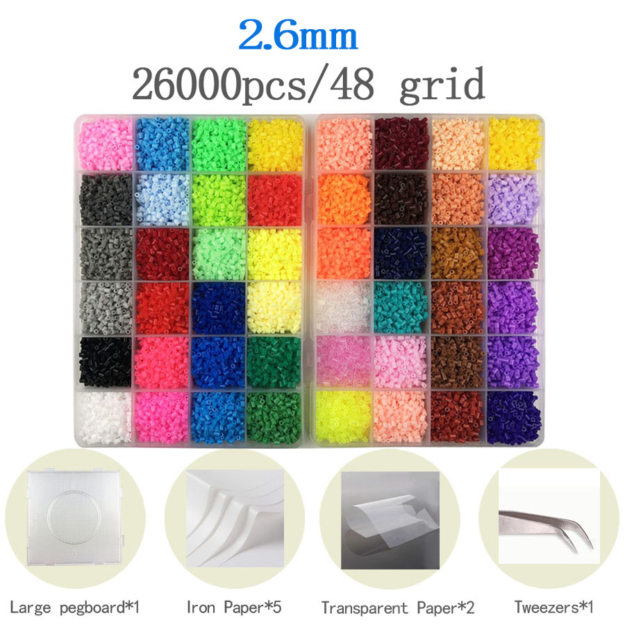 24/48colors Box Packing Hama Beads Education Iron Beads PUPUKOU Beads 100% Quality Guarantee Perler Fuse Beads Diy Toy
