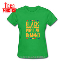 2020 new fashion women's Tshirt Black By Popular Demand Tribal Golden Letters pr