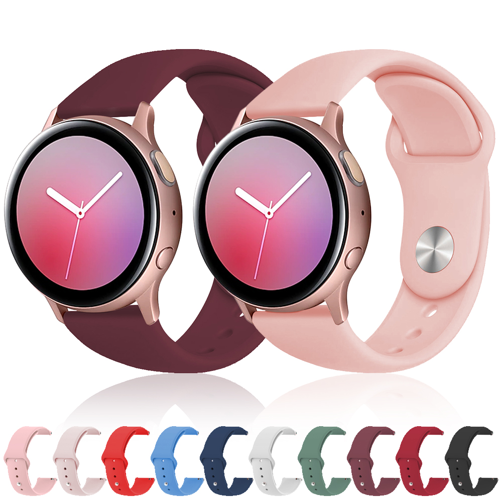 20mm Soft Silicone Watch Strap Band For Samsung Galaxy Watch 42mm Active 2 For Gear S2 Classic Sport Huami Amazfit Wristband