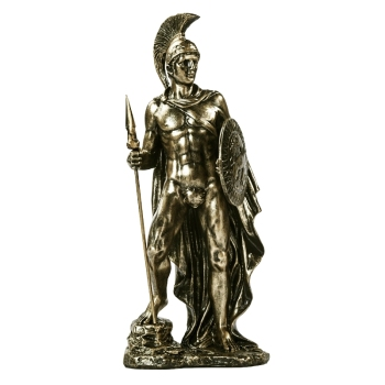 Ancient Greek Spartan Warrior Sculpture Handmade Resin Fighter 2
