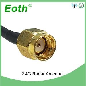 Image 3 - 2 adet WiFi anten 2.4GHz anten yüksek kazanç 10dBi RP SMA erkek kablosuz WLAN yönlü Radar anten RG174 kablo 1M yönlendirici